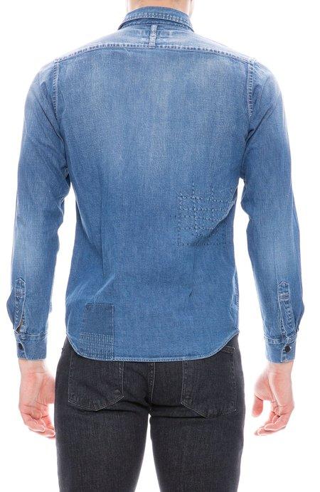 FDMTL Denim Patchwork Shirt - Indigo