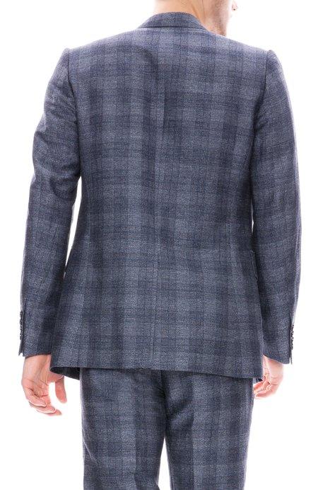 Dries Van Noten Tonal Plaid Suit Jacket - Blue