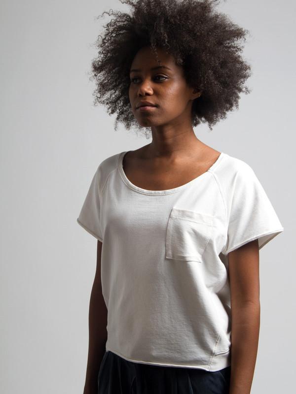 Skin Sweatshirt Tee Hemp White