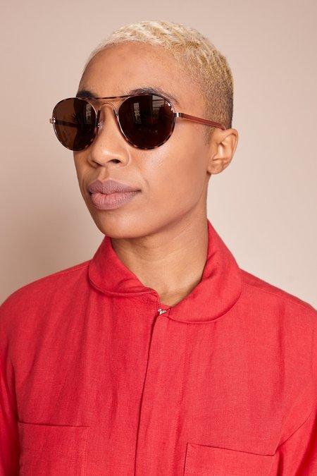 Kate Young for Tura Anna Sunglasses - Tortoise
