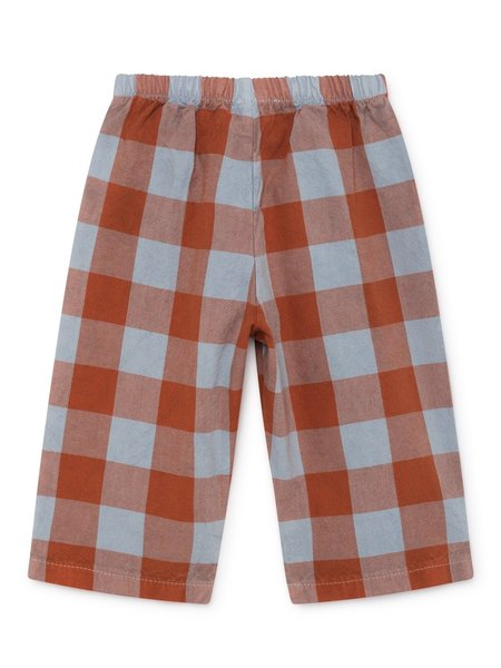 KIDS Bobo Choses Baggy Vichy Baby Trousers - Blue/Red Vichy