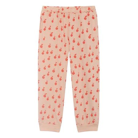 KIDS Bobo Choses Child Sweatpants With Red Apple Print - Pink