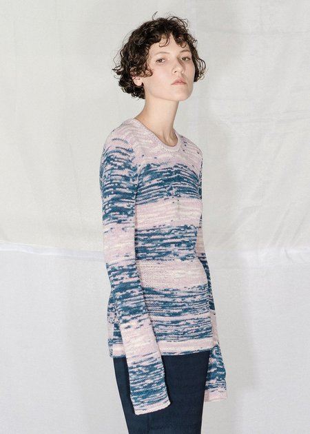 Nomia Long Sleeve Crewneck - Lilac Multi