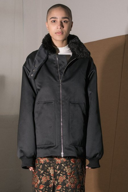 Nomia Laced Aviator Jacket - black