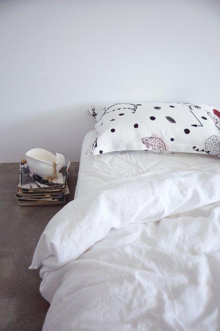Salasai Syndicate Pillowcase Set - White
