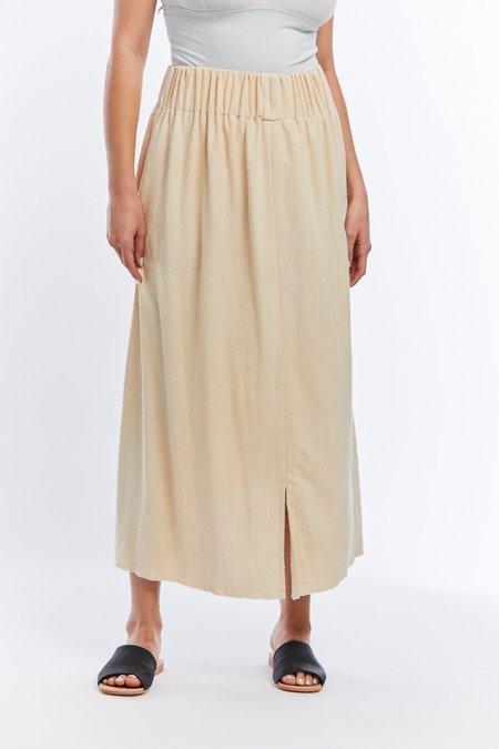 Miranda Bennett Silk Noil Paper Bag Skirt - Lucien