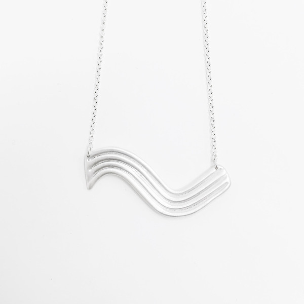 Lane Walkup Silver Wave Necklace