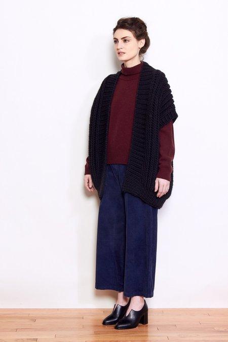 Mr. Mittens Fishermans Wool Vest - Black