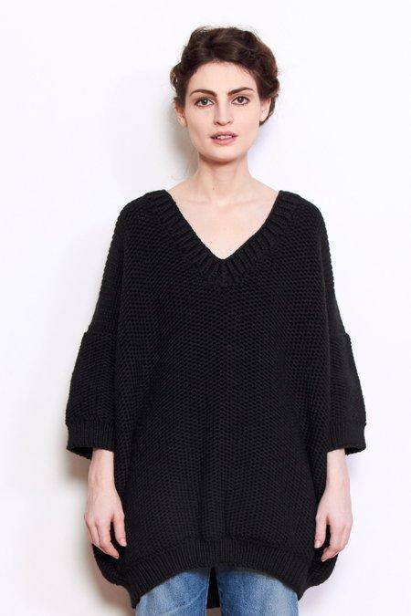 Mr. Mittens Jacqueline Wool Sweater - Black