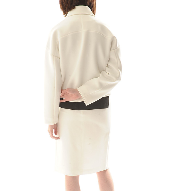 Shakuhachi China White Biker Jacket