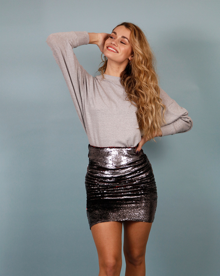 IRO Dreaming Sequined Mini skirt - gray