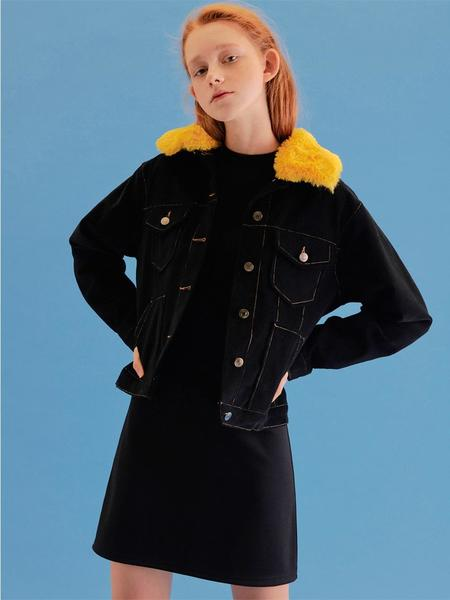 CITYBREEZE Corduroy Fur Jacket