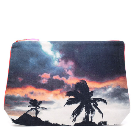 Dezso by Sara Beltran TULUM FLAMINGO SKY CANVAS POUCH