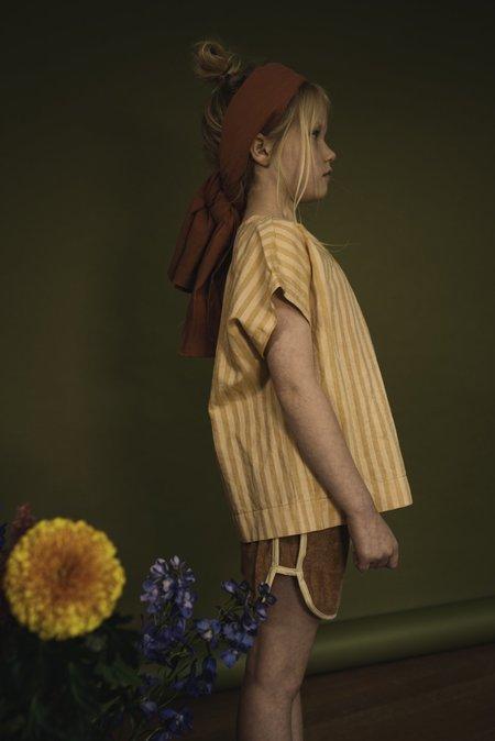 KIDS Repose AMS Striped Woven Tee - Yellow/Gold Stripe