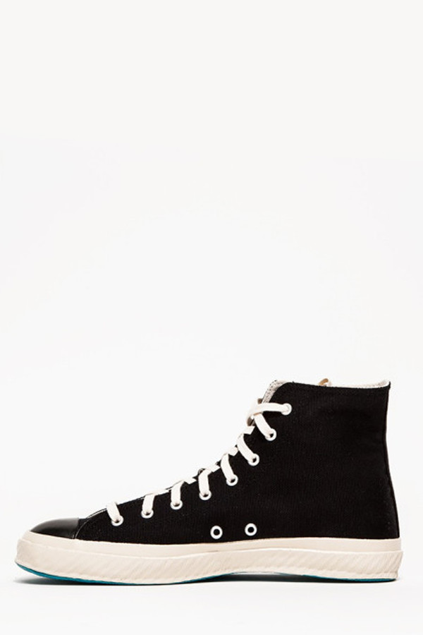 Unisex Shoes Like Pottery High Top Canvas Sneaker - Black