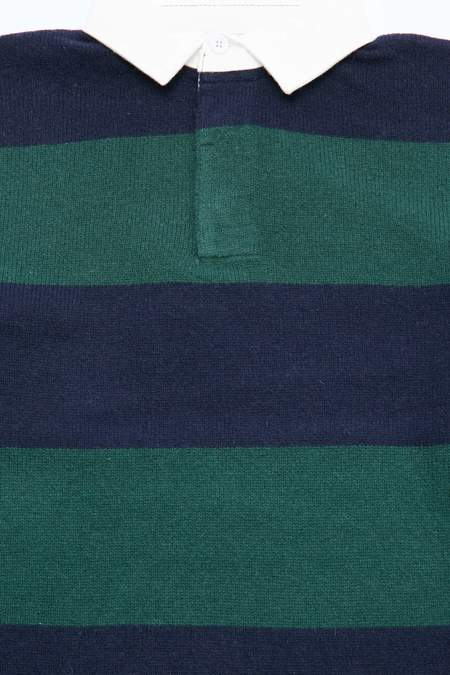 Beams+ Knit Rugger 7G - Green/Navy