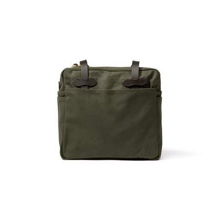 Filson Rugged Twill Tote Bag with Zipper - Otter Green