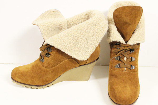 Kelsi Dagger Shearling Lined Wedge Boot