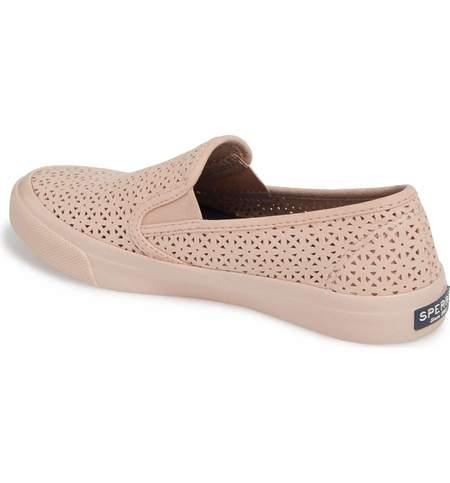 Sperry Seaside Perforated Sneaker - Blush