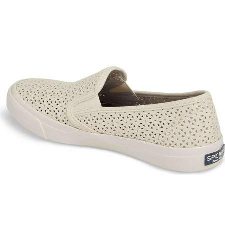 Sperry Seaside Perforated Sneaker - Ivory