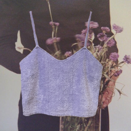 Reworked Laurs Kemp Fuzzy Periwinkle Camisole