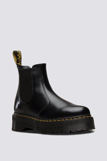 UNISEX Dr. Martens Smooth Leather 2976 Platform BOOT - BLACK