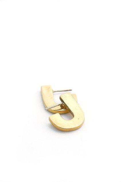Tiro Tiro Juxta Earrings - Brass