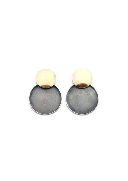 Tiro Tiro Mini Luo Earring - Oxidized Silver
