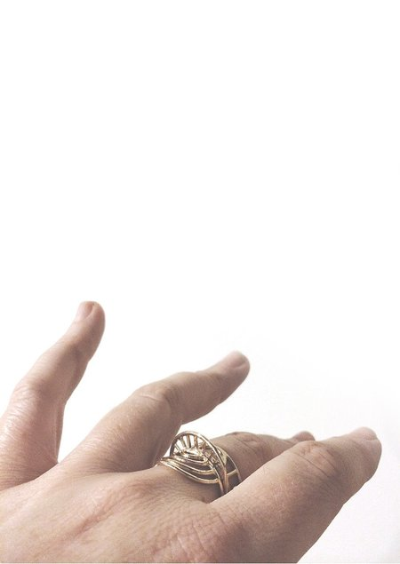 Tiro Tiro Rayos Ring - 14k Gold
