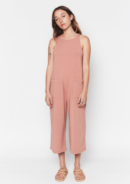 Backbeat Rags Everyday Playsuit - Pink Clay