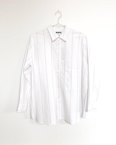 Hope Elma Shirt - White/Pink Stripe