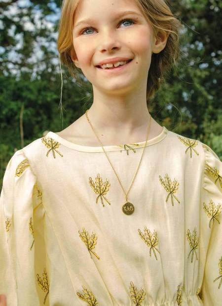 KIDS The Animals Observatory Swallow Dress - Yellow Wheat