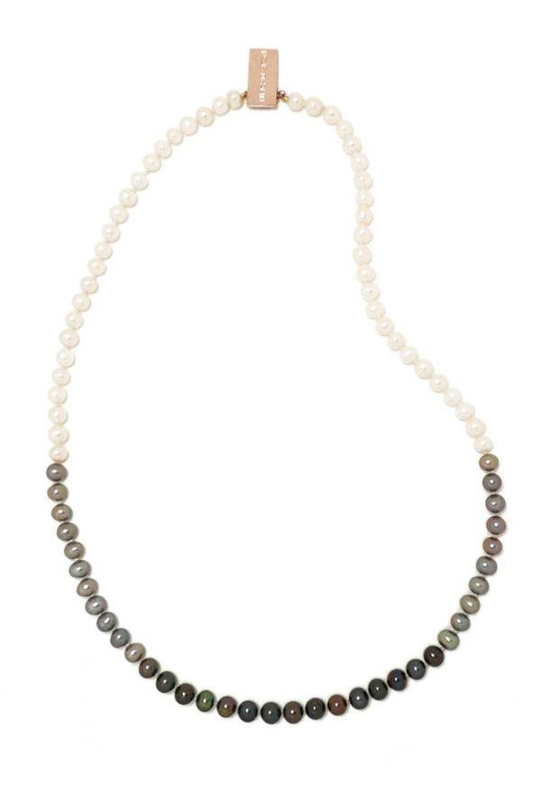 Fade to Black Pearl Necklace