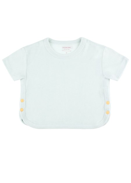 Kids Tinycottons Buttons Crop Tee - Light Mint