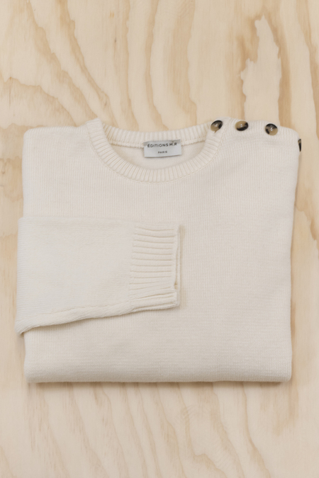 Editions MR Yann Button Collar Sweater - ivory