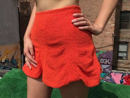 Pearle Knits The Skirt - ORANGE