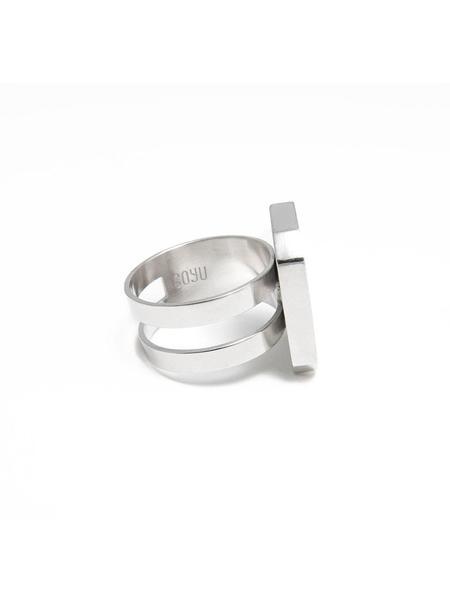 GOYU Flat Octagon Ring - Silver