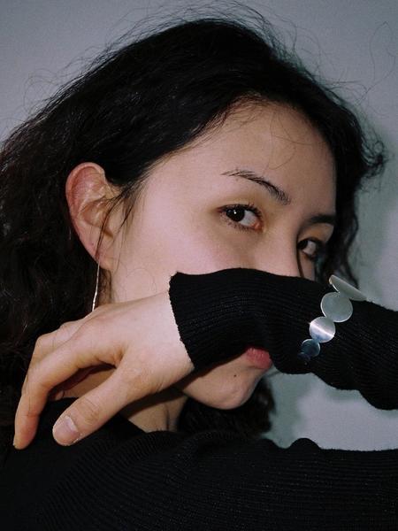GOYU Bold Circle Cuff Bracelet - Silver