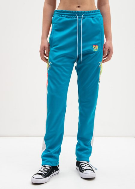 Doublet Chaos Embroidery Track Pants - Light Blue