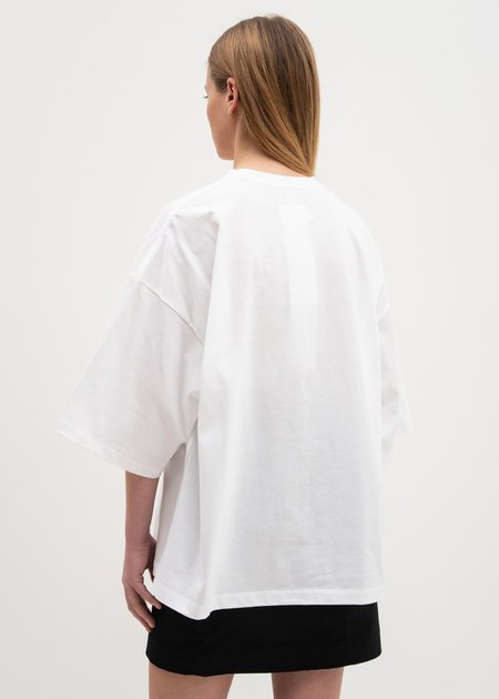 Doublet Gradation Neon Embroidery T-Shirt - White
