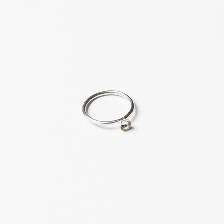 Another Feather Small Silver Cup Ring