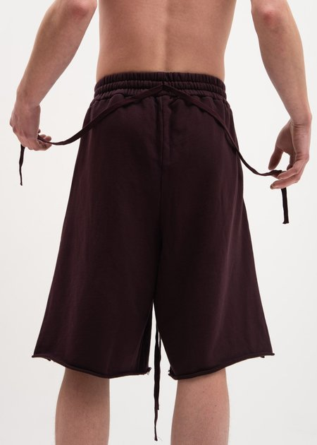 Komakino Fleece Shorts Scraps - Cherry