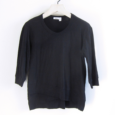 Wilt Mock Hem 3/4 Sleeve Top - Black