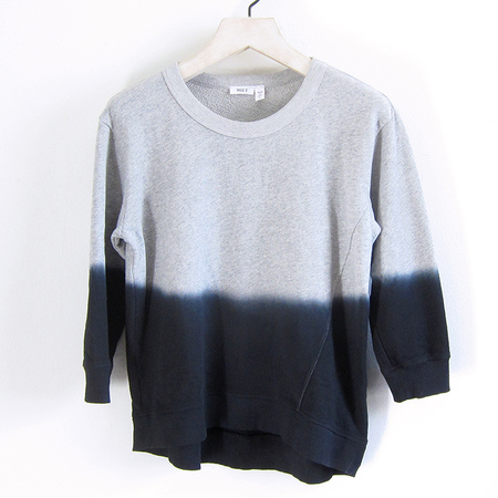 Wilt Shrunken Ombre Sweatshirt - Grey/Black