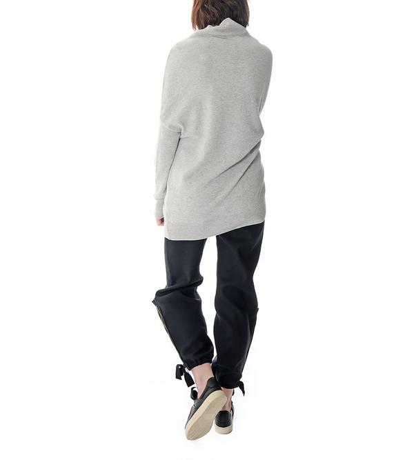 08sircus Grey Angora Mock Neck Sweater