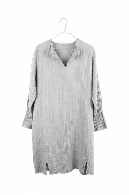 It Is Well L.A. Split Neck Dress - Zinc