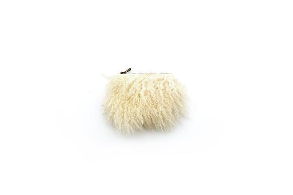 Primecut CREAM CURLY SHEEP SMALL POUCH