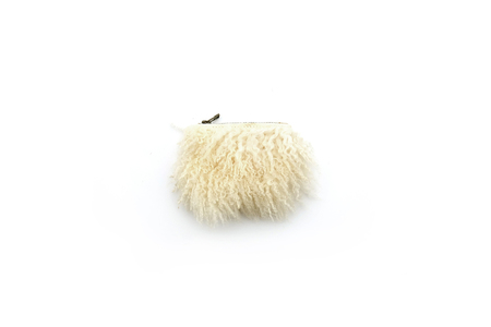 Primecut CREAM CURLY SHEEP SMALL POUCH