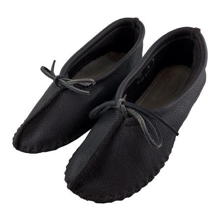 Hides In Hand Moccasin Ballet Slippers - Black