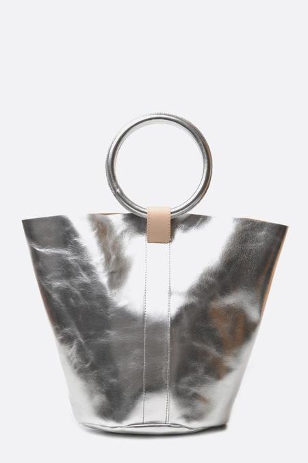 Myers Collective Small Round Bucket Bag - Silver